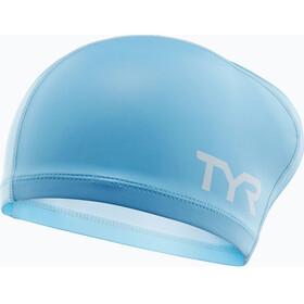 TYR Comfort Long Hair Silicone Cap Juniors Light Blue